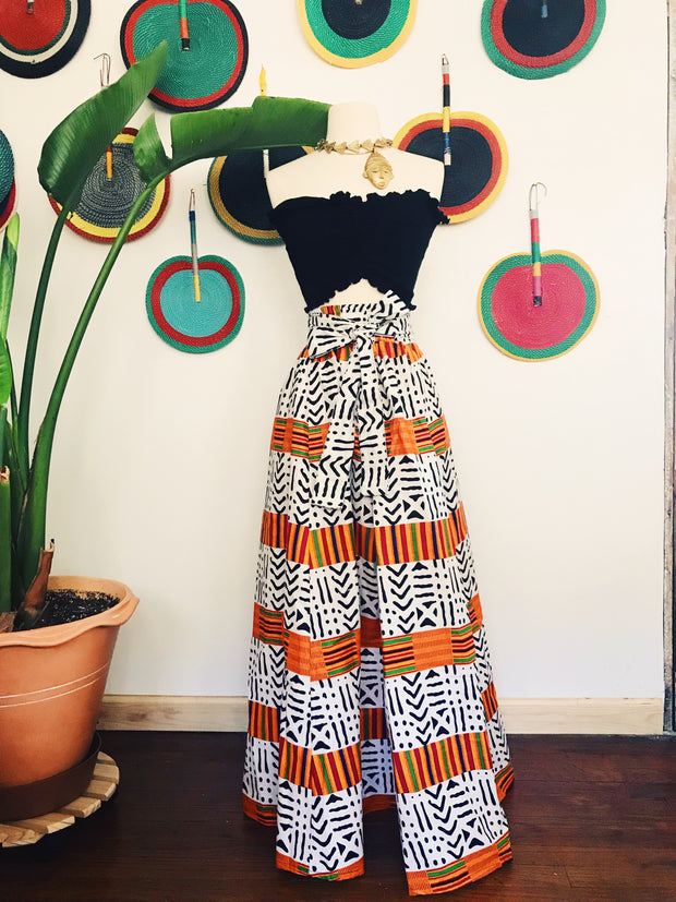 Heritage African Print Maxi Skirt