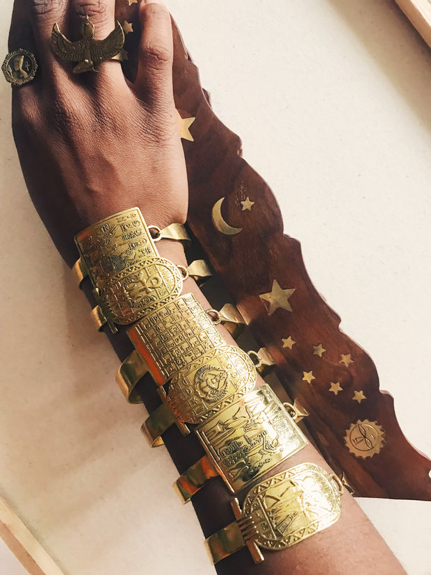 Vintage Kemetic Cuffs