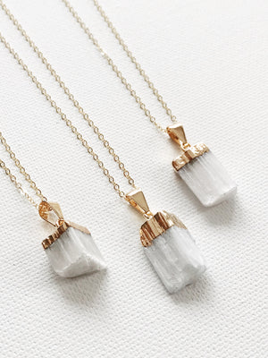 Selenite Crystal Necklace