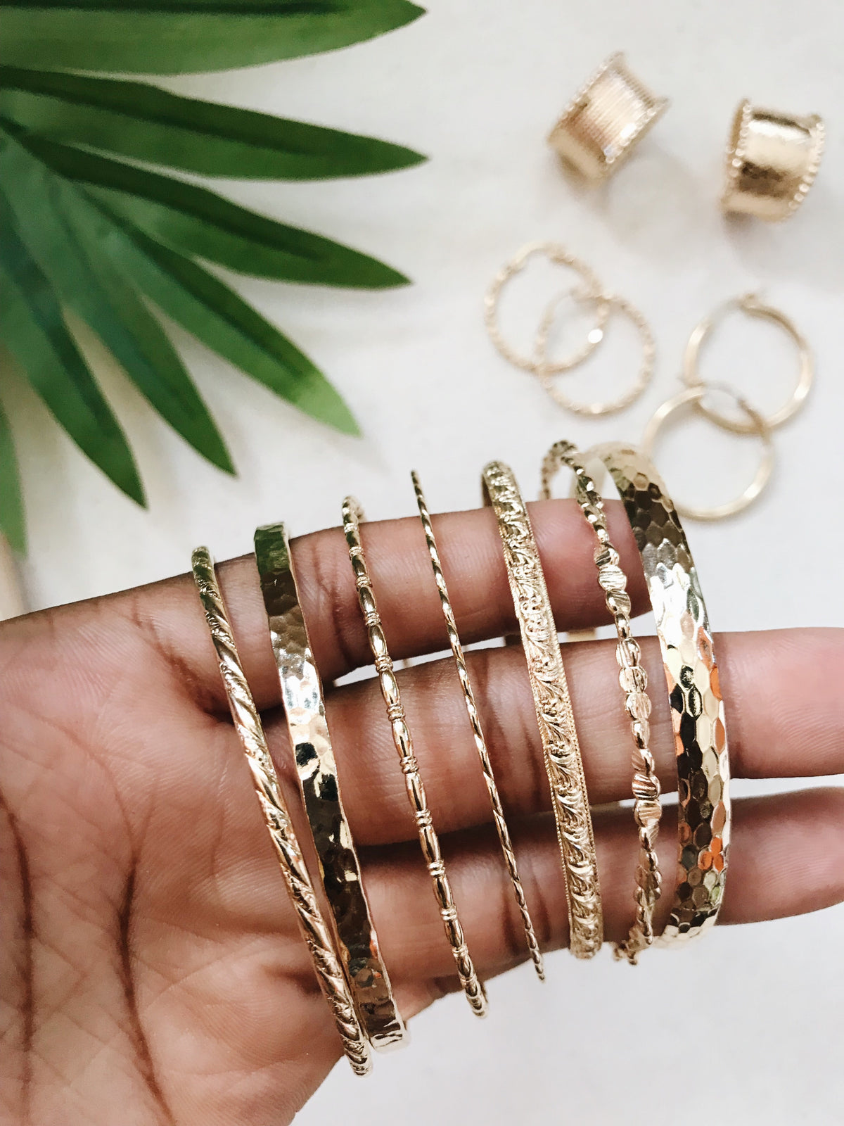 Gold Filled Pattern Bangles