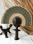 Ashanti Fertility Doll Fan// Navy + Green #1