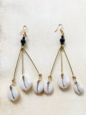Oshun Cowrie Movement Earrings