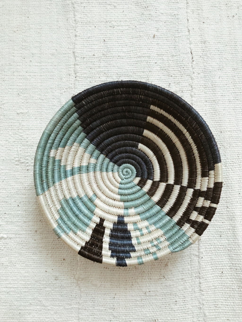 African Palm Basket// Blue