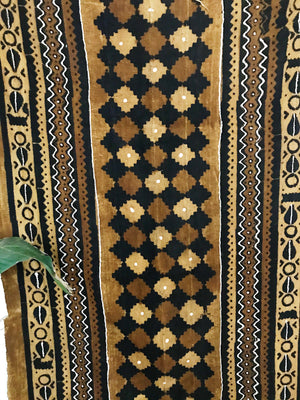 African Mudcloth Fabric// Tan and Brown
