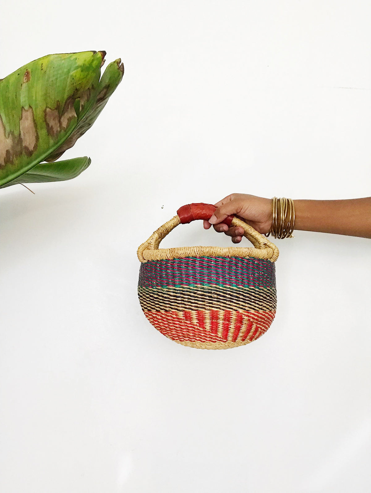 African Wicker Basket // MultiColor