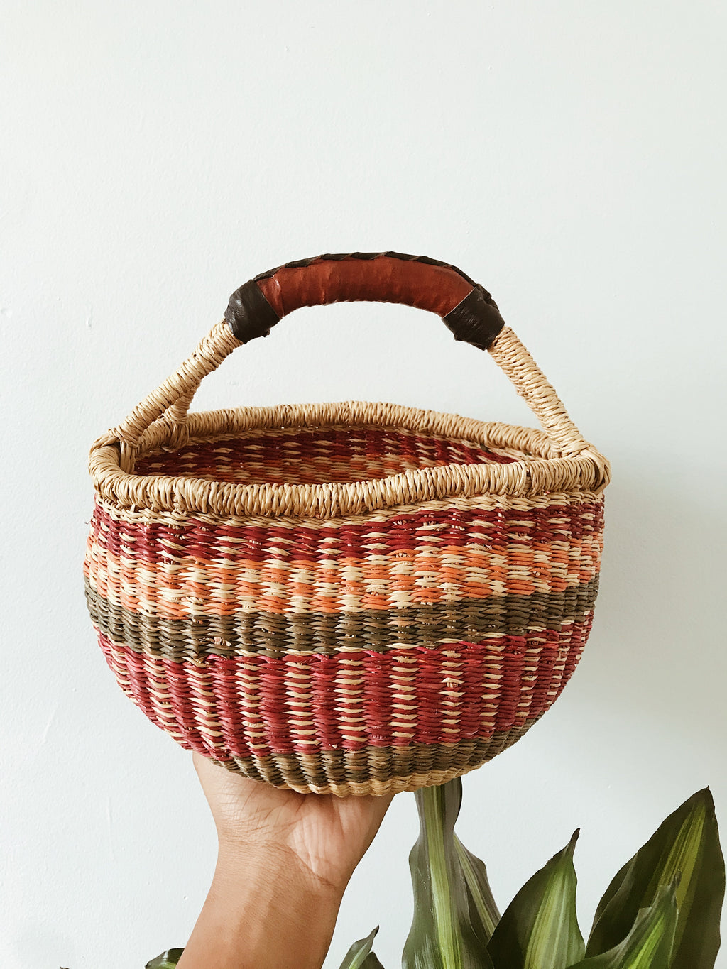 African Wicker Basket // Ruby + Sage