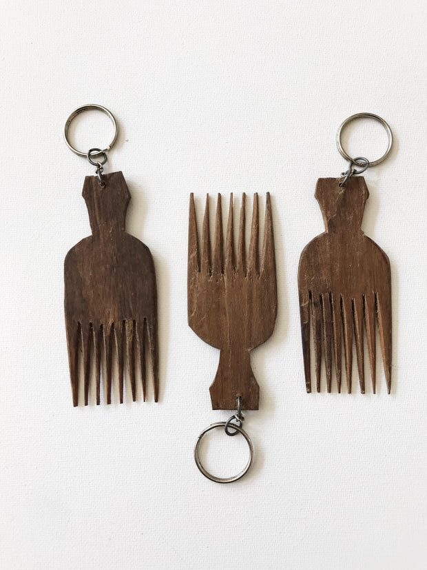 Afro Pick Comb Key Chain