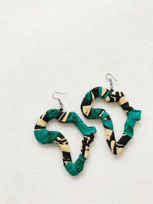 Ankara Africa Earrings