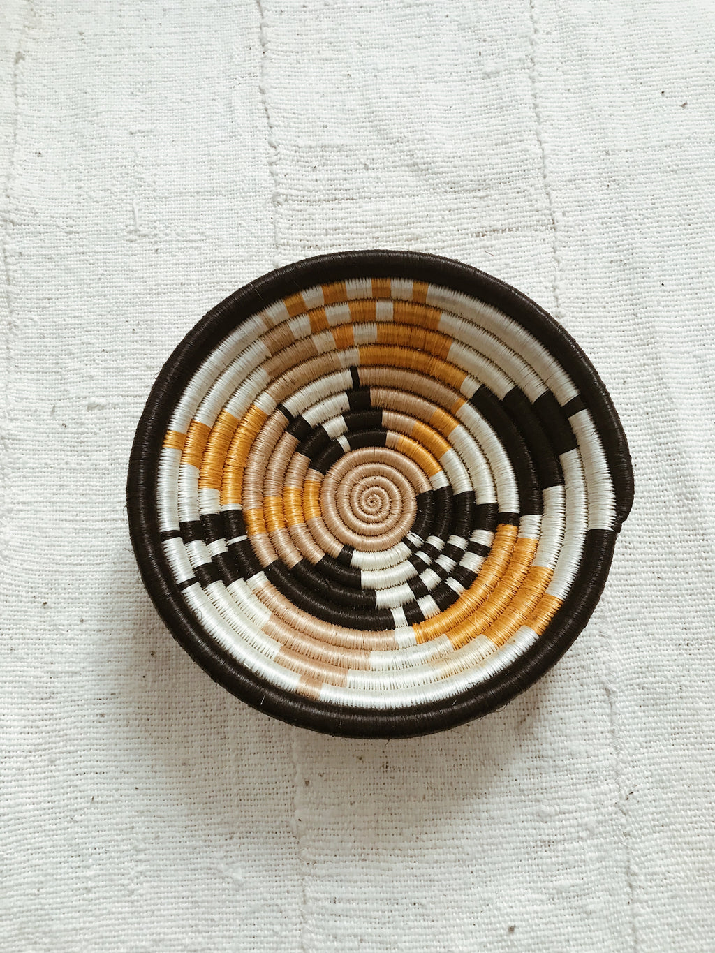 African Palm Basket// Black + Orange