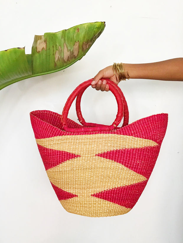 Ghanaian Market Bag // Red