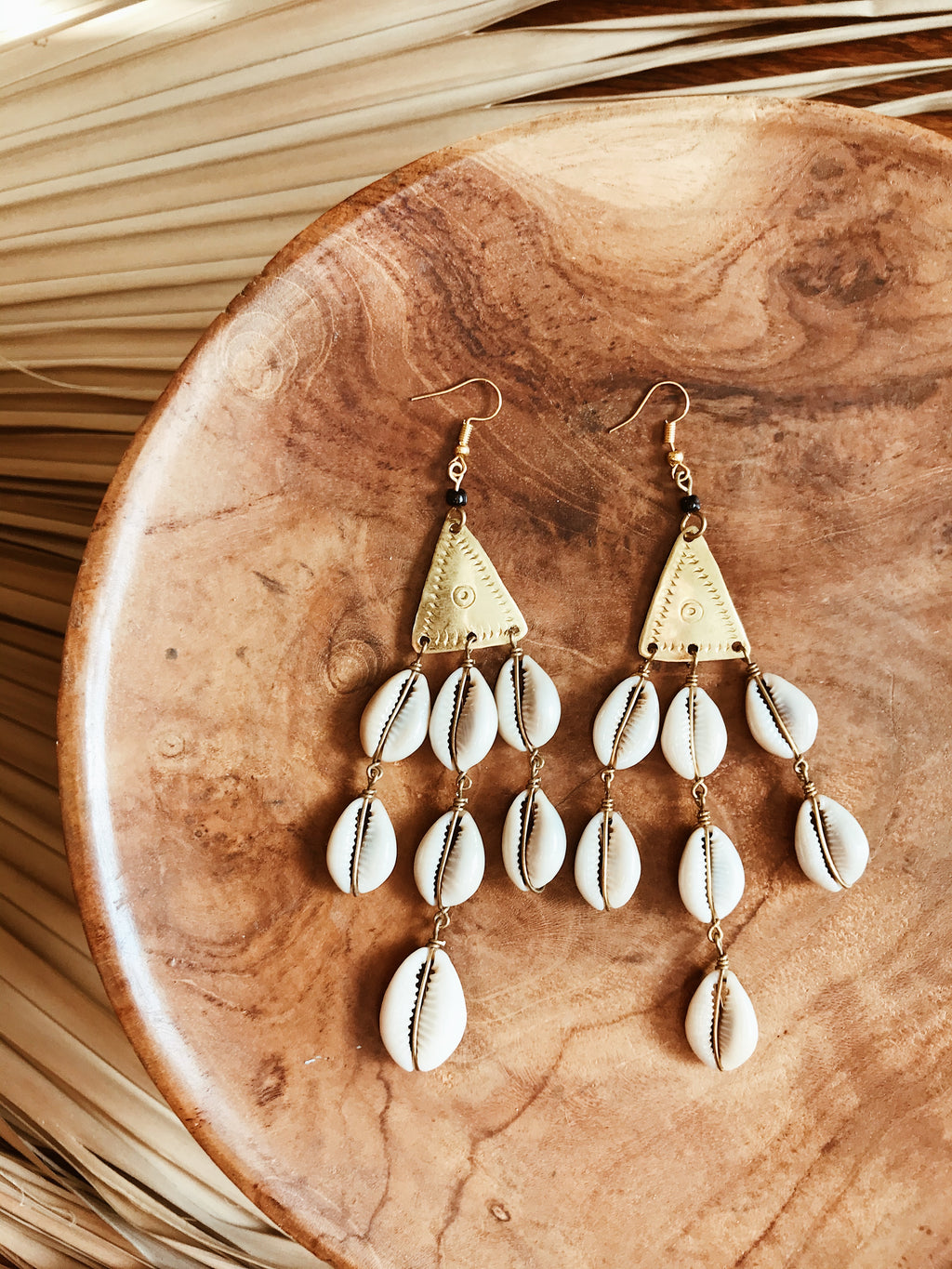 Orisha Cowrie Earrings
