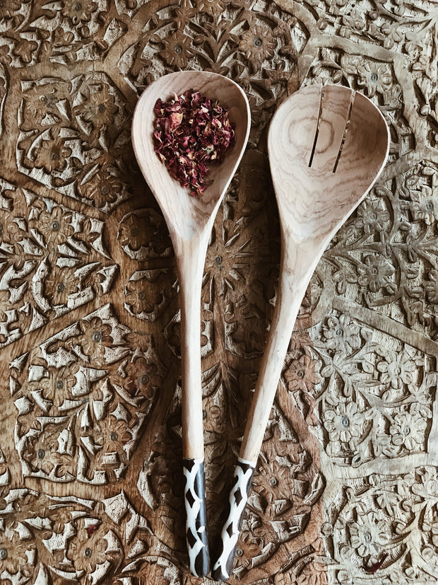 Batik Bone Salad Spoon Set