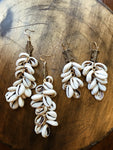 Mote Cowrie Cluster Earrings
