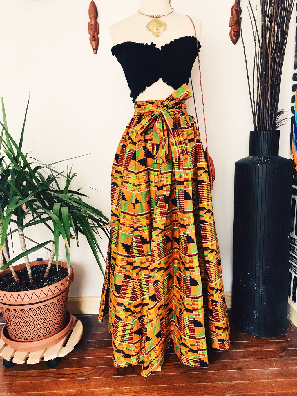 The Original Kente // African Print Maxi Skirt