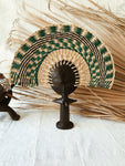 Ashanti Fertility Doll Fan// Green #6