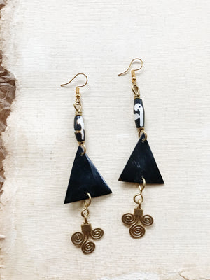 Mocha Bone Earrings