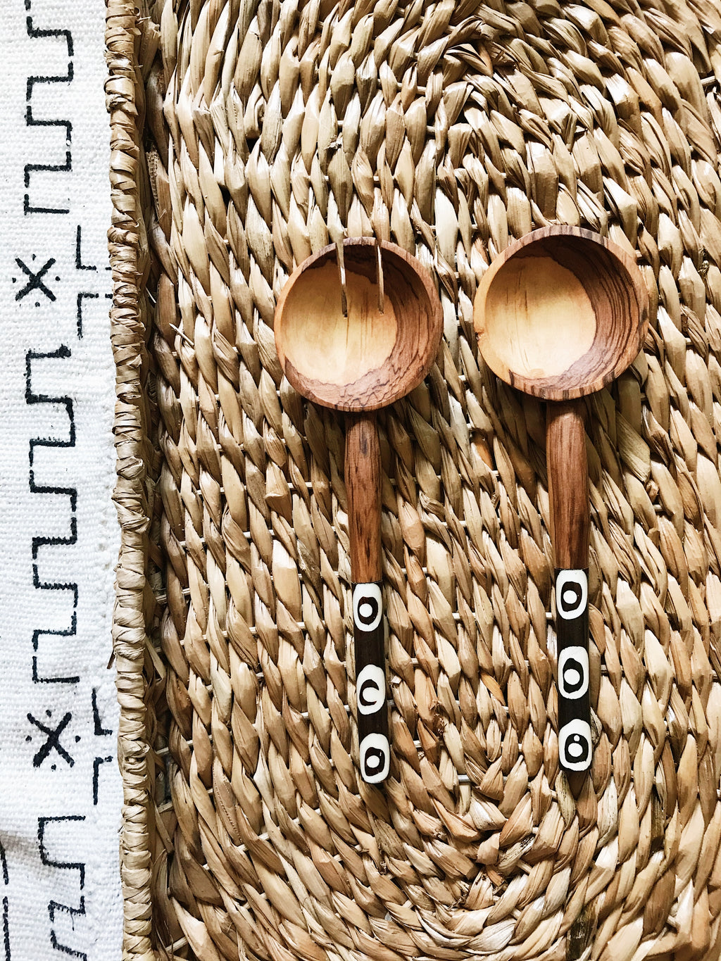 Black Eyed Pea Wood Spoons// Salad Servers