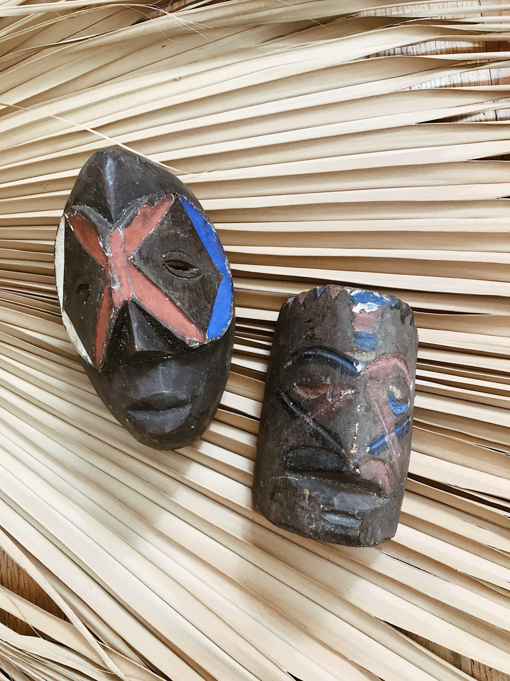 "Congolese Songye ""Passport"" Mask (Set of 2) #1"