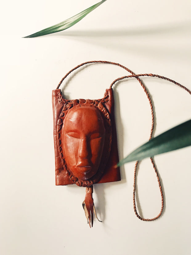 Leather Mask Passport Cover
