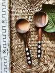 Nairobi Dot Wood Spoon Set // Salad Servers