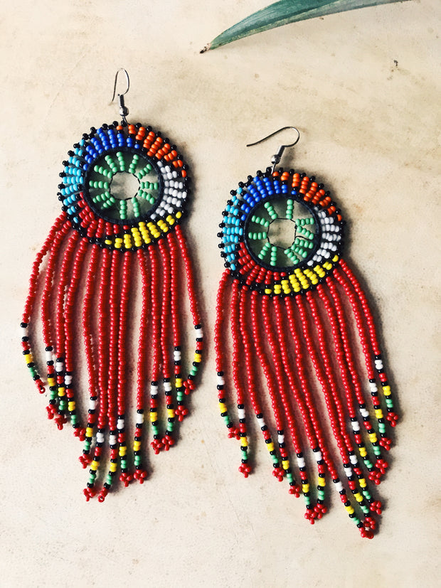 Maasai Fringe Earrings