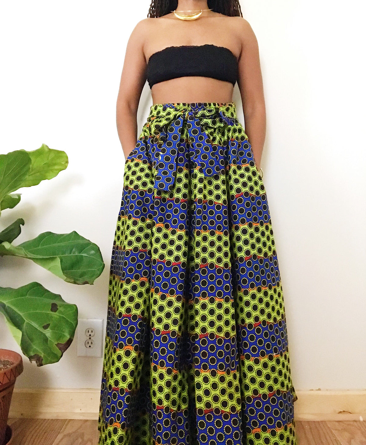 a144462ddced Sunflower Fields // African Print Maxi Skirt – Afrohemien.com