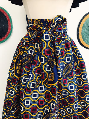 Traditions African Print Midi Skirt