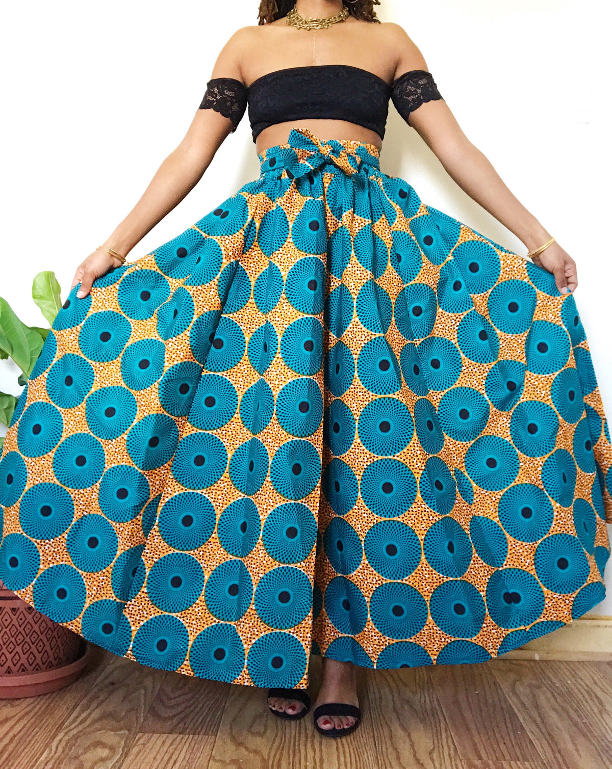 Malawi African Print Maxi Skirt