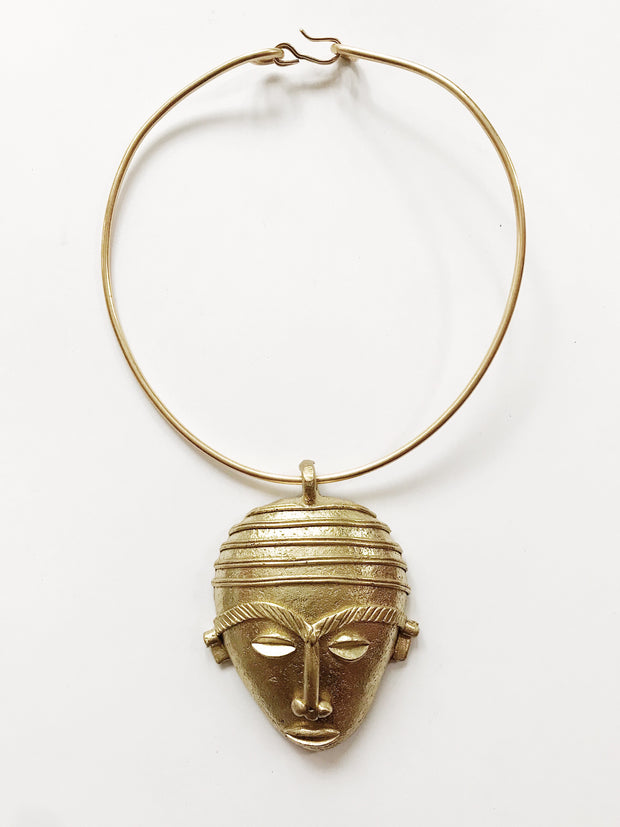 Zulu Chief African Mask Choker