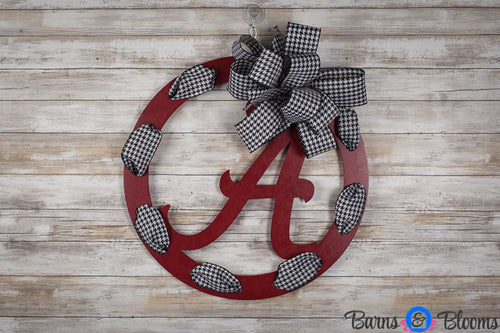Alabama Circle Team Wreath Door Hanger