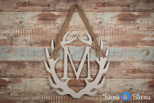 Antler Monogram Wreath