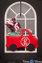 Christmas Truck with Initial Door Hanger
