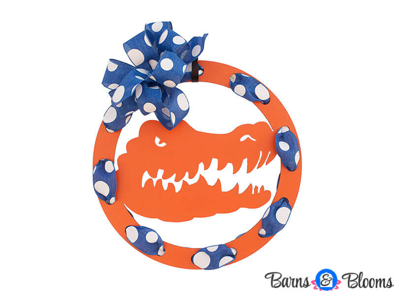 Florida Gators Circle Team Wreath Door Hanger