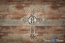Monogram Door Hanger Cross Cream Distressed