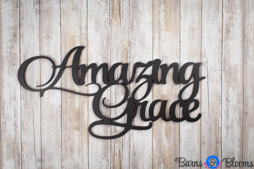 Amazing Grace Wall Saying Black