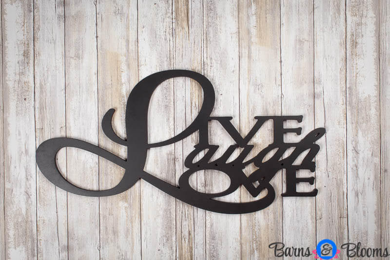 Live Laugh Love Wall Saying Black
