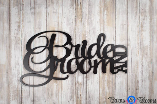 Bride and Groom Wall Saying Black