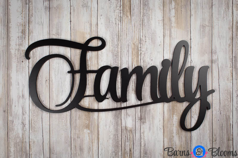 Family Wall Saying Black