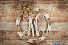 Year Round Monogram Wreath White