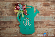 Watering Can Monogram White Initial