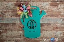 Watering Can Monogram Black Initial