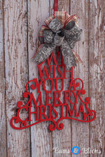 Christmas Door Decor­ Merry Christmas Tree Door Hanger