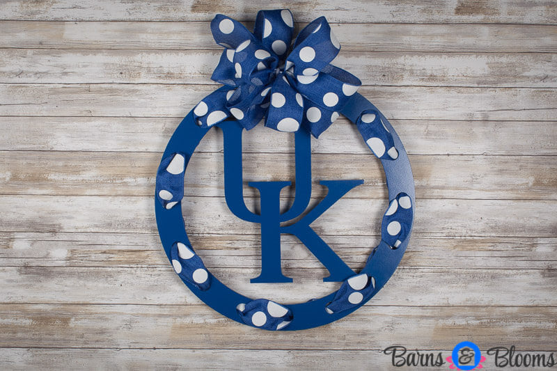 Kentucky Circle Team Wreath Door Hanger