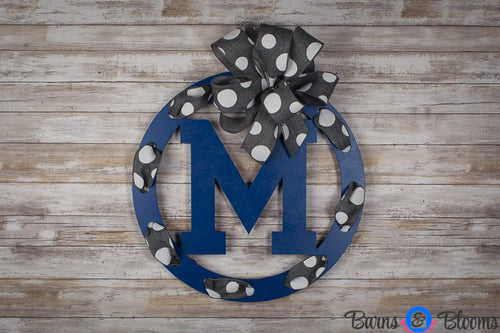 Memphis Circle Team Wreath Door Hanger