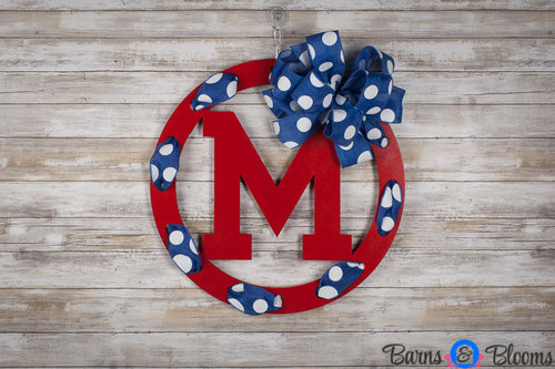 Ole Miss Circle Team Wreath Door Hanger