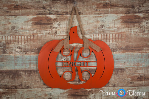 Pumpkin Decor, Wooden Monogram Family Name Sign