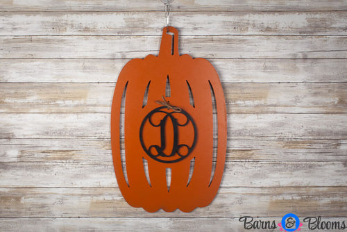 Halloween Door Decorations, Pumpkin Door Hanger Monogram