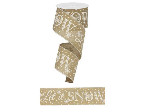 2.5IN X 10YD Beige Let It Snow