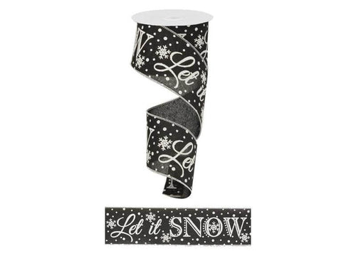 2.5IN X 10YD Black Let It Snow
