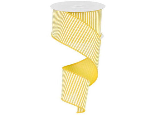 2.5IN X 10YD HORIZONTAL STRIPE YELLOW & WHITE